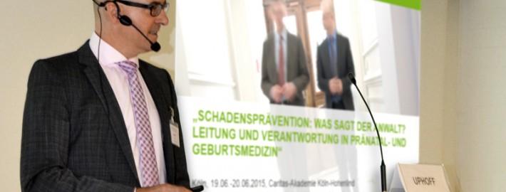 Dr. Roland Uphoff auf einem Seminar für Chefärzte und leitende Oberärzte des BLFG e.V.