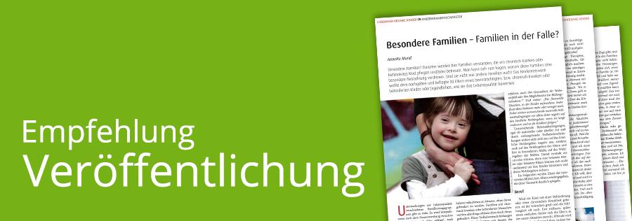 Veröffentlichung zum Familienleben mit chronisch kranken oder behinderten Kindern