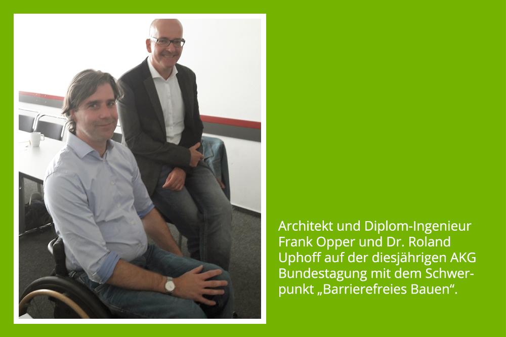 Architekt Frank Opper und Dr. Roland Uphoff bei der AKG Mitgliederversammlung 2018