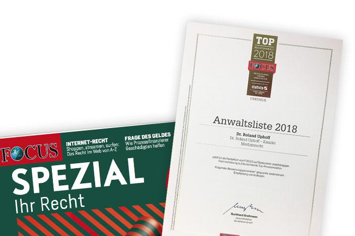 Focus-Spezial: Top-Rechtsanwälte 2018