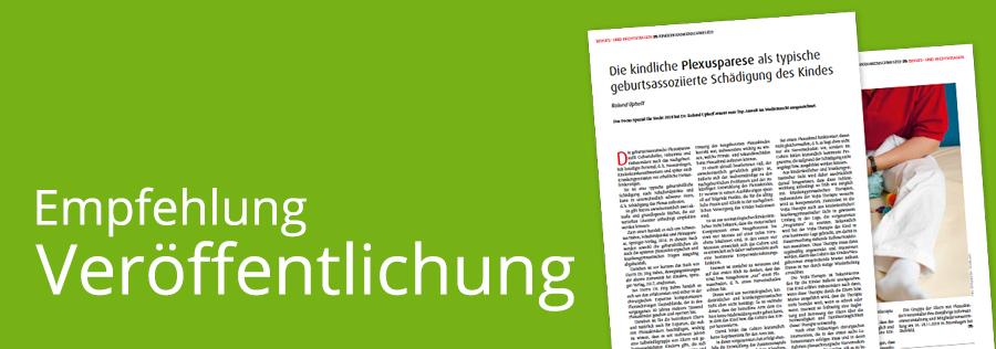 Fachbeitrag zur kindlichen Plexusparese von Roland Uphoff im Magazin Kinderkrankenschwester